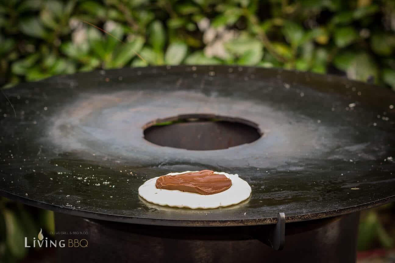 Gefüllter Pancake mit Nutella
