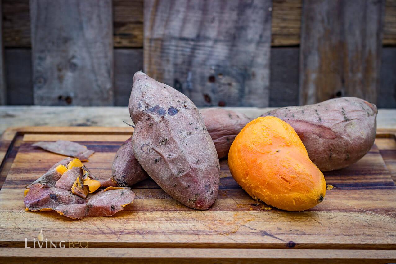 gekochte Süßkartoffeln