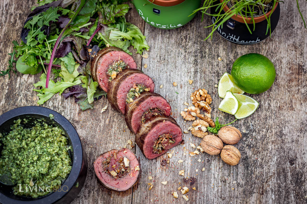 Flank Steak Rolle mit Walnuss Pesto grillrezepte_Flank Steak Rolle Serra Leonardo 7 von 9