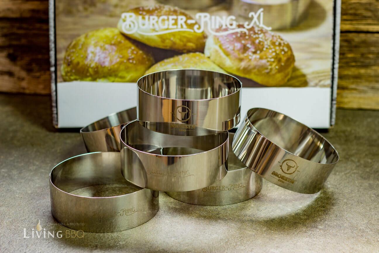 6 Burger Ringe aus Edelstahl brioche buns_Moesta BBQ Burger Ringe Brioche Buns 2 von 10