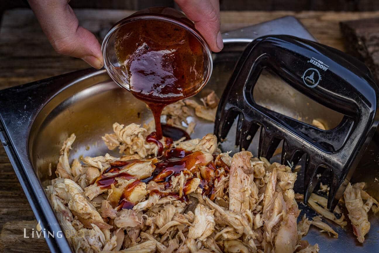Pulled Chicken mit BBQ Sauce pulled chicken_Pulled Chicken 12 von 17