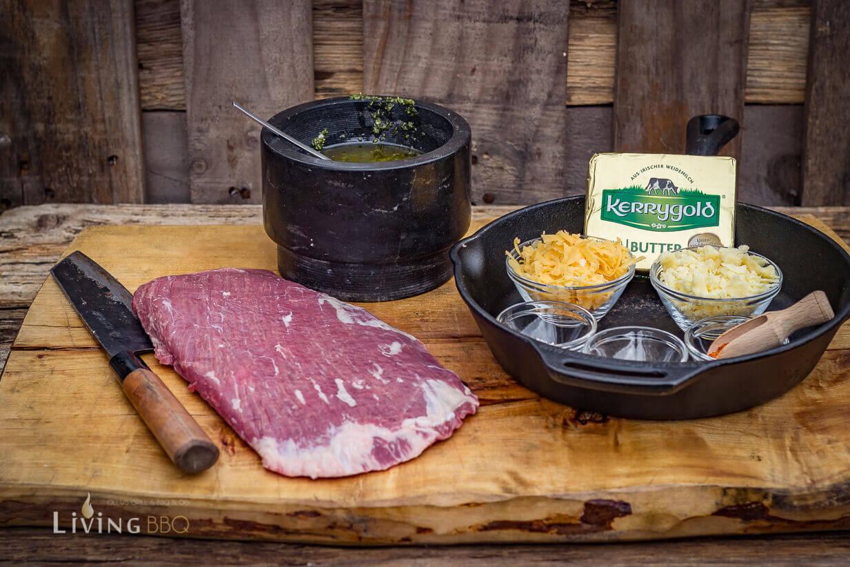 Zutatenübersicht für Quesadillas mit Flank Steak, Cheddar und Chimichurri quesadillas_Quesadillas Flank Steak 1 von 17