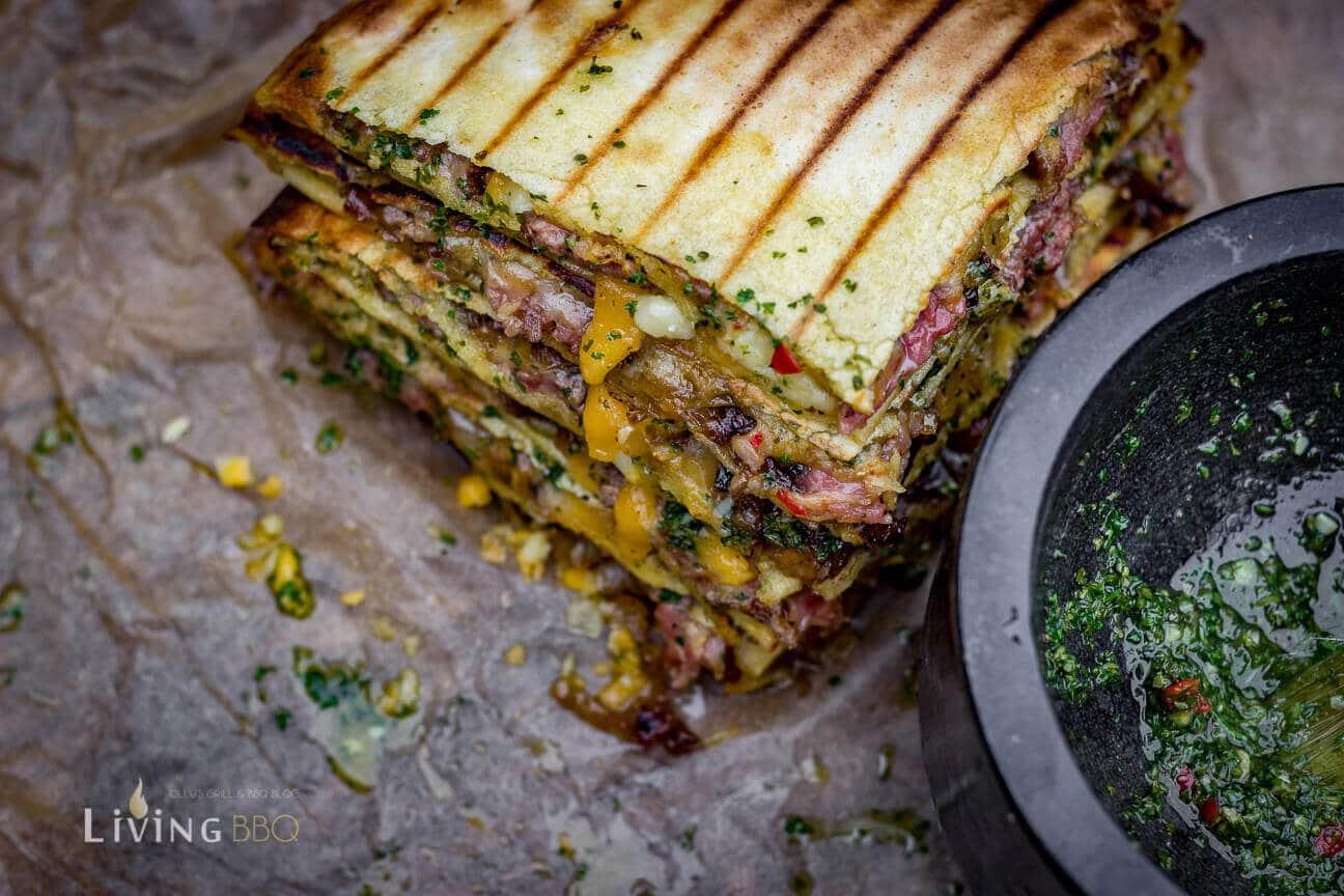 Chimichurri und Quesadillas quesadillas_Quesadillas Flank Steak 13 von 17