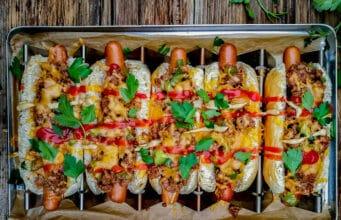 Sloppy Joe Hot Dog
