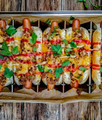 Sloppy Joe Hot Dog