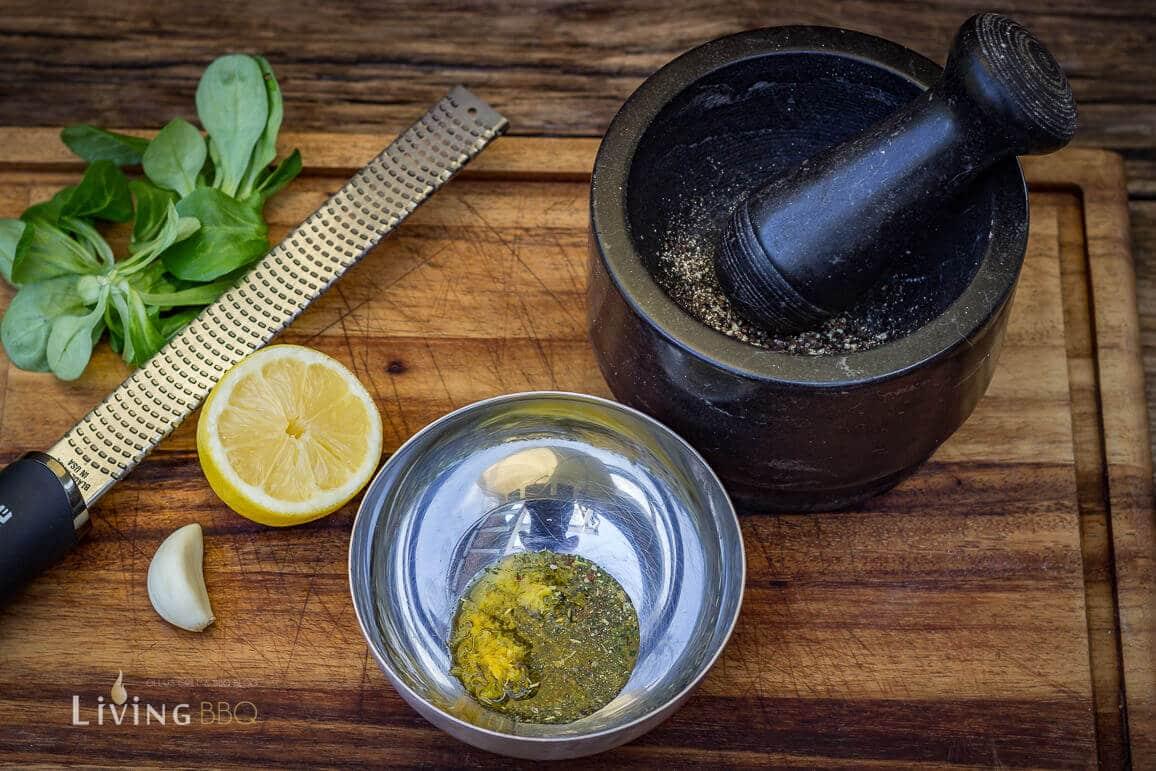 Marinade für Filet Mignon anrühren