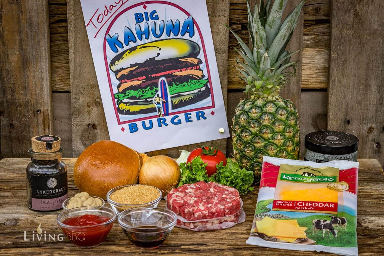 Zutaten für den Big Kahuna Burger