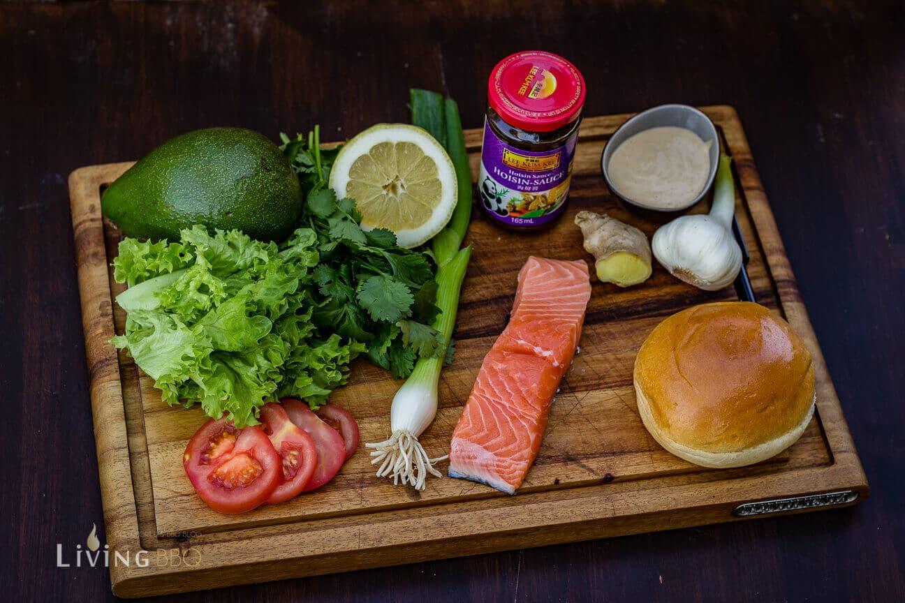 Zutaten Asia Lachs-Burger