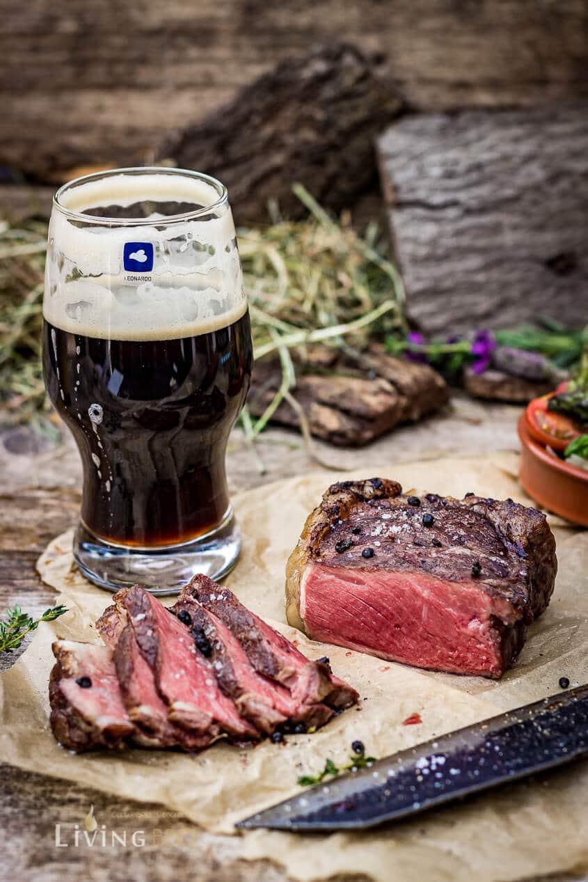 Bison Rumpsteak mit Craft Beer