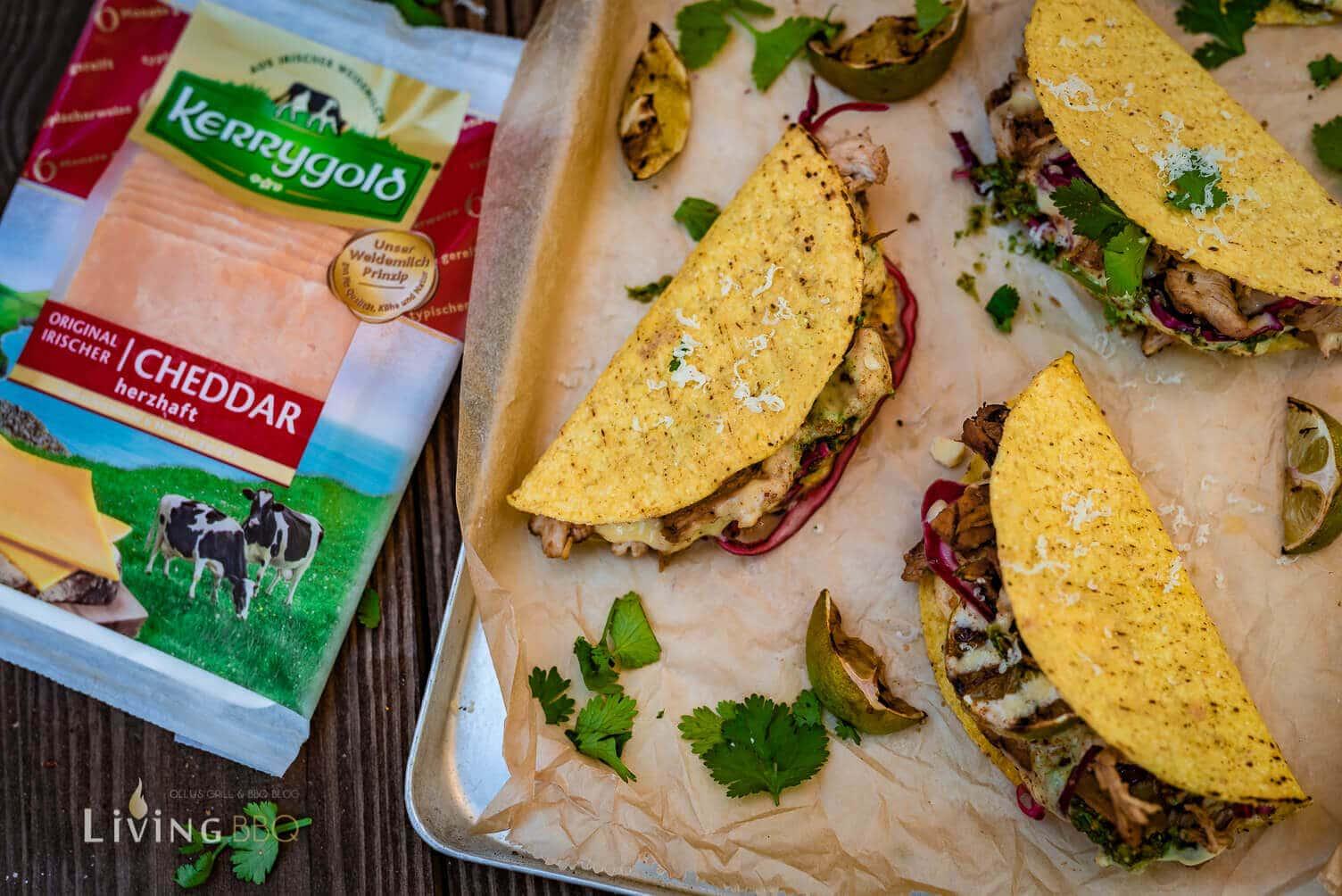 Taco Shells mit Cheddar Käse