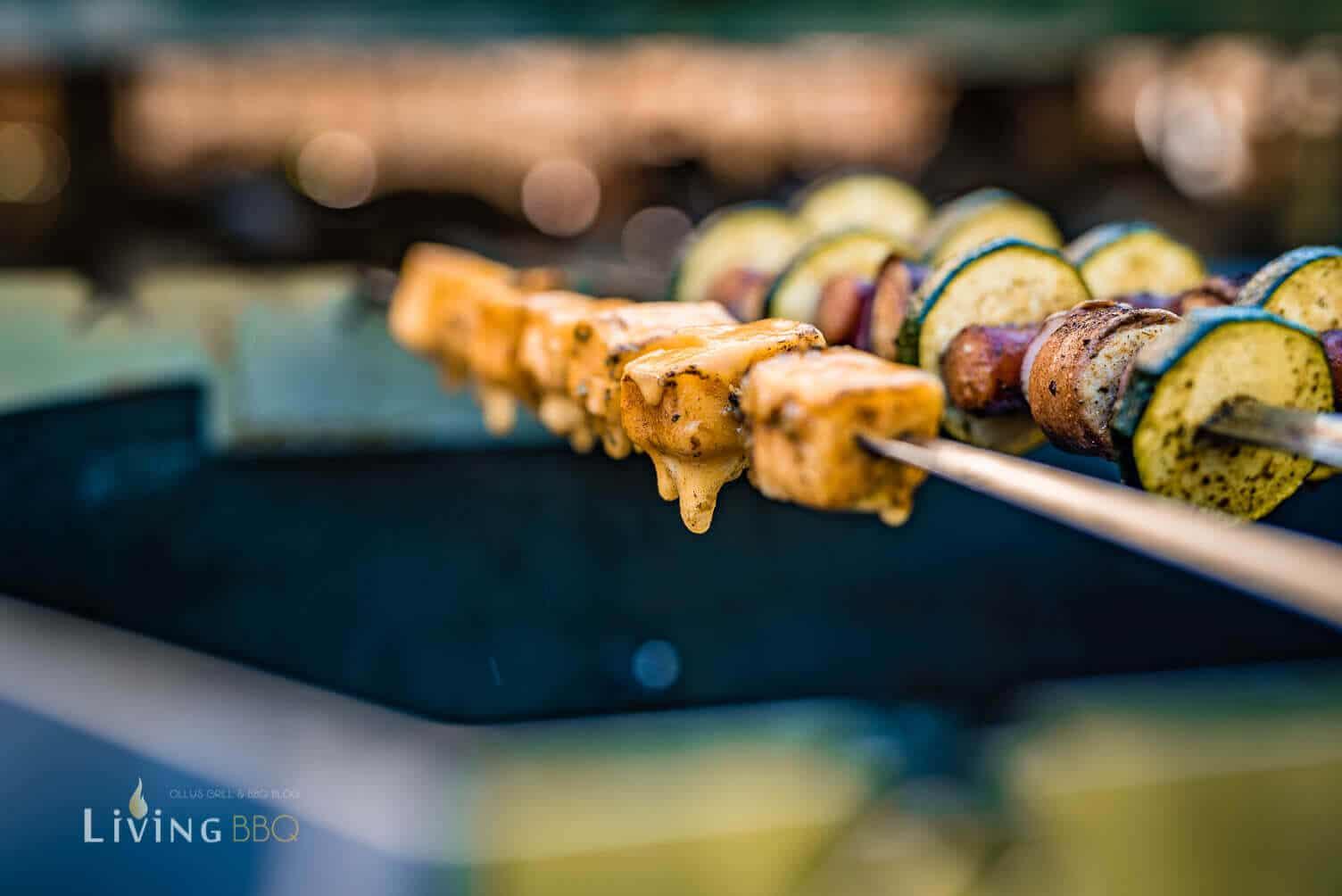 Cheddarkäse am Spieß _Grillspie  e mit Bratwurst 9 von 14