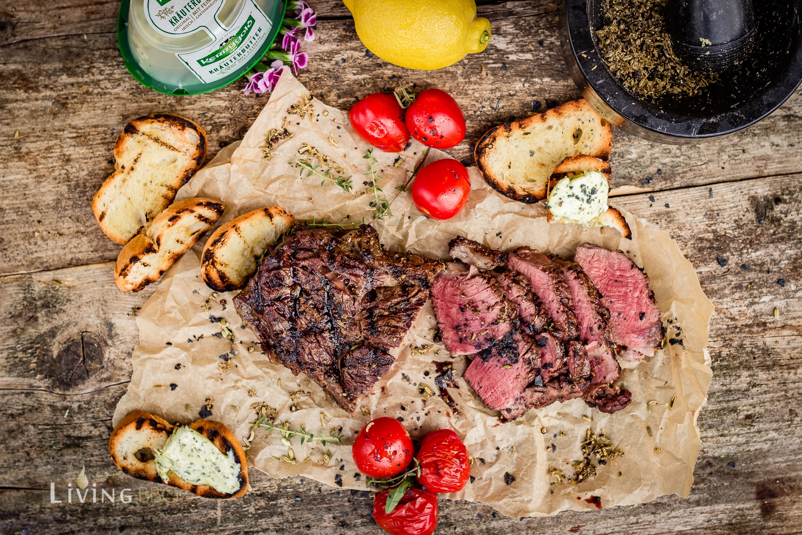 Bison Ribeye Steak grillrezepte_Bison Ribeye Steak Zitrone Fenchel 6 von 9