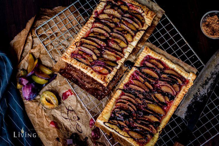 Einfaches Dessert - Zwetschgentarte mit Blätterteig _Pflaumentarte aus Bla  tterteig 9 von 16 749x500