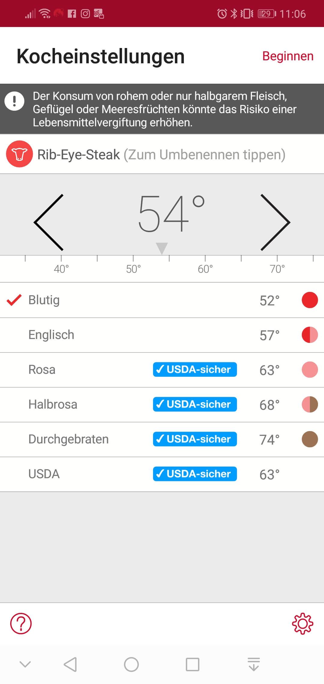 Zieltemperatur auswählen oder einstellen _Screenshot 20181028 110642