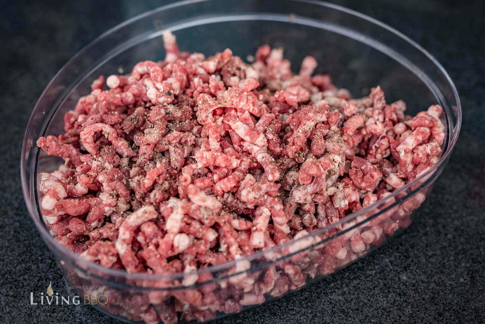Rindfleisch für Zwetschgenburger