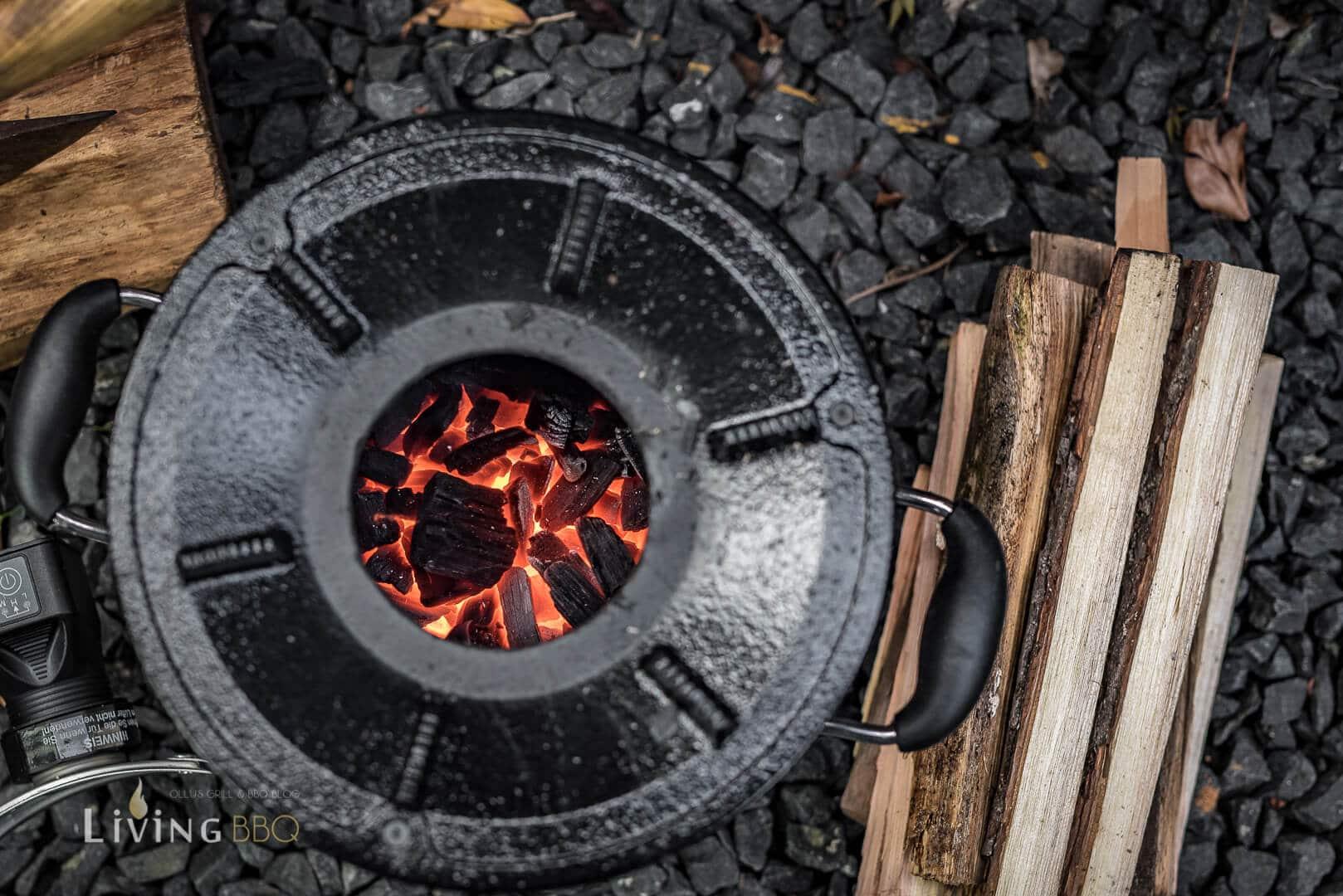 Raktenofen mit Holzkohle betreiben _Raketen Ofen 15 von 32