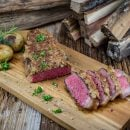Rumpsteak mit Champignons Topping