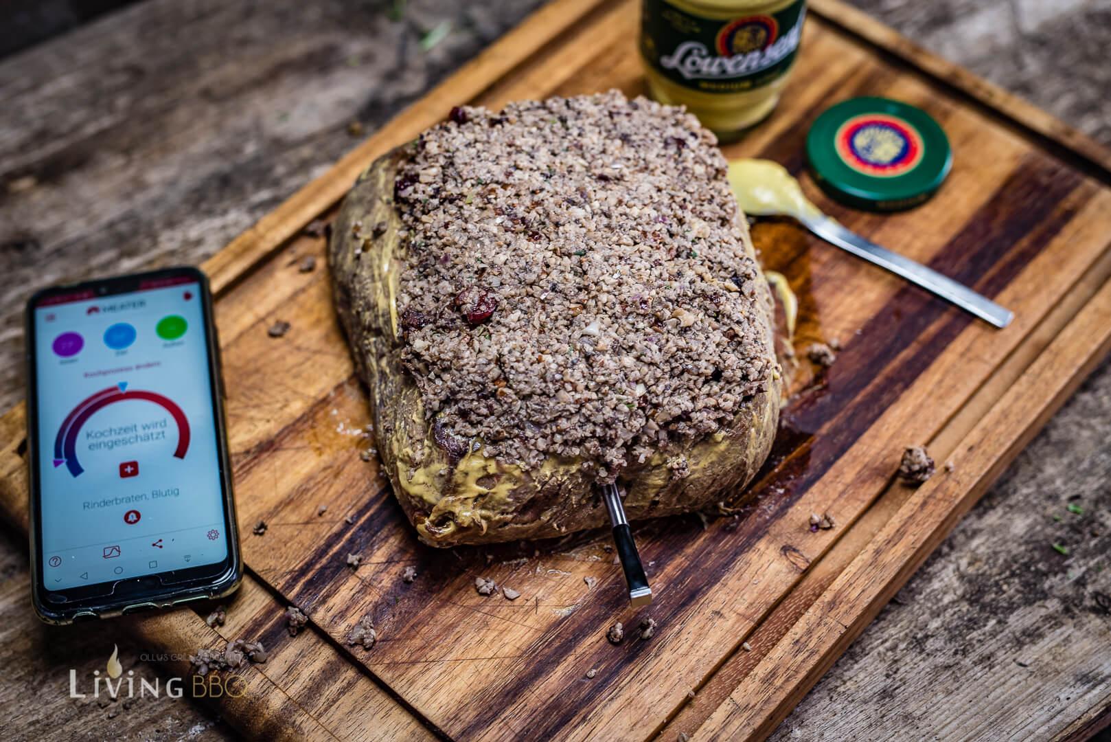 Roastbeef mit Grillthermometer