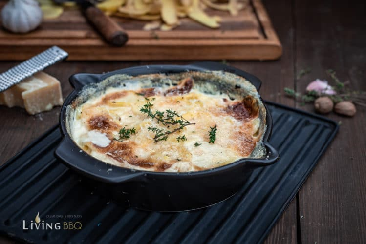 Kartoffelgratin Rezept - einfach und lecker vom Grill