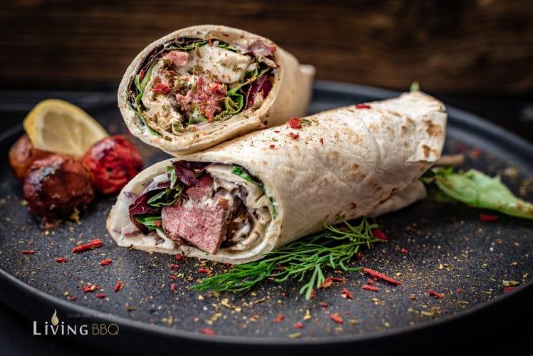 Lamm-Wrap mit Knoblauchcreme und Feta