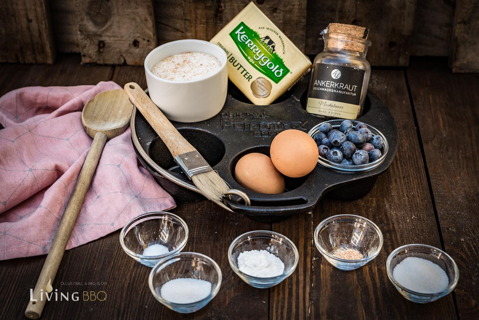 Zutate Blaubeer Muffins