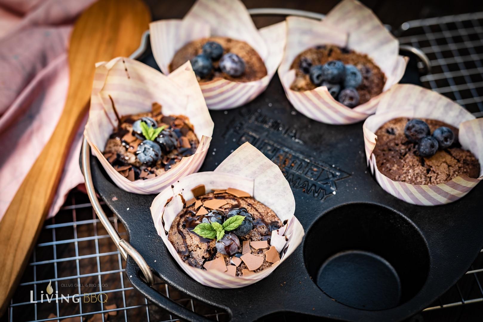 Fertig gebackener Blaubeer Muffins