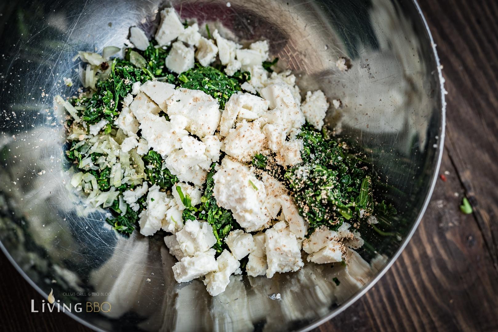 Zutaten für Spinat Pide