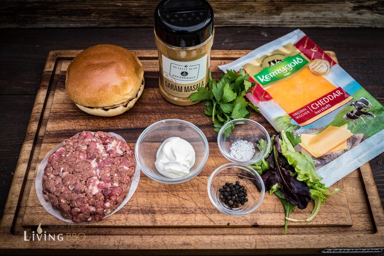Zutaten Sucuk Burger mit Cheddarkäse