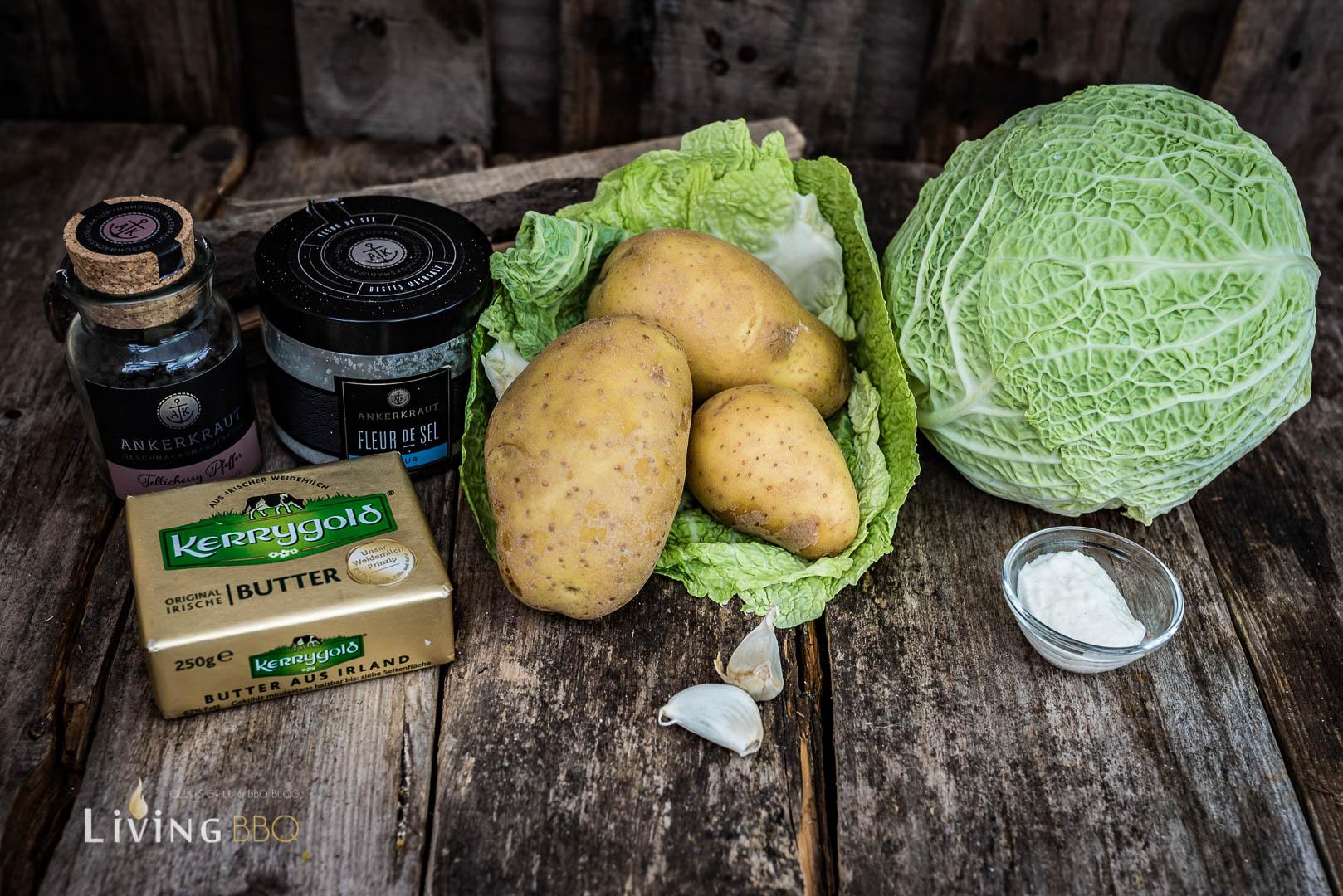 Zutaten Wirsing Kartoffelstampf