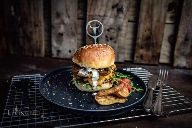 Kräuterseitling Burger