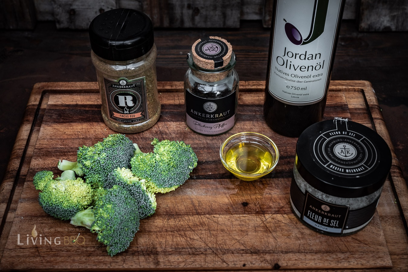 Zutaten für Broccoli aus dem Smoker