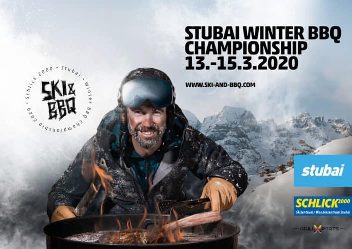Plakat Ski und BBQ Schlick2000