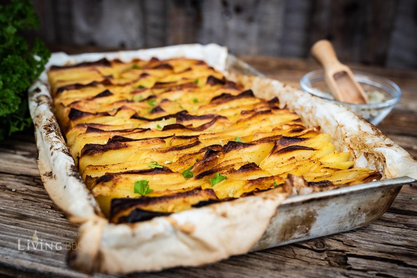 Blätterkartoffeln knusprig gegrillt