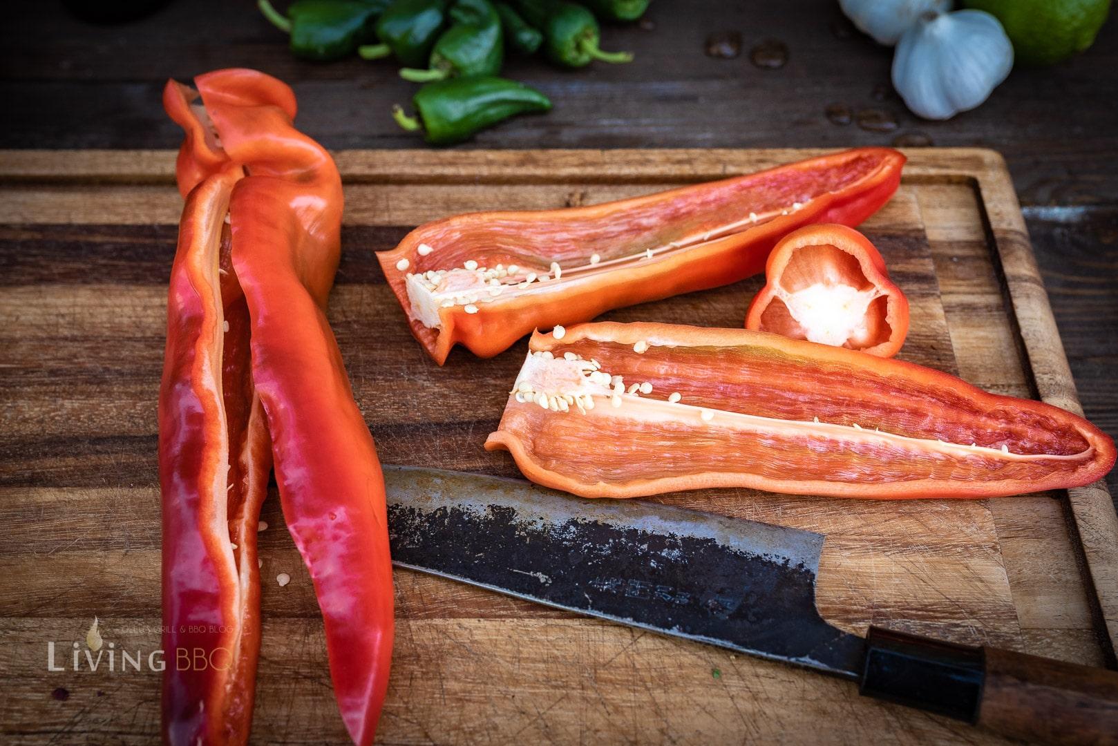 Spitzparika als Grillgemüse
