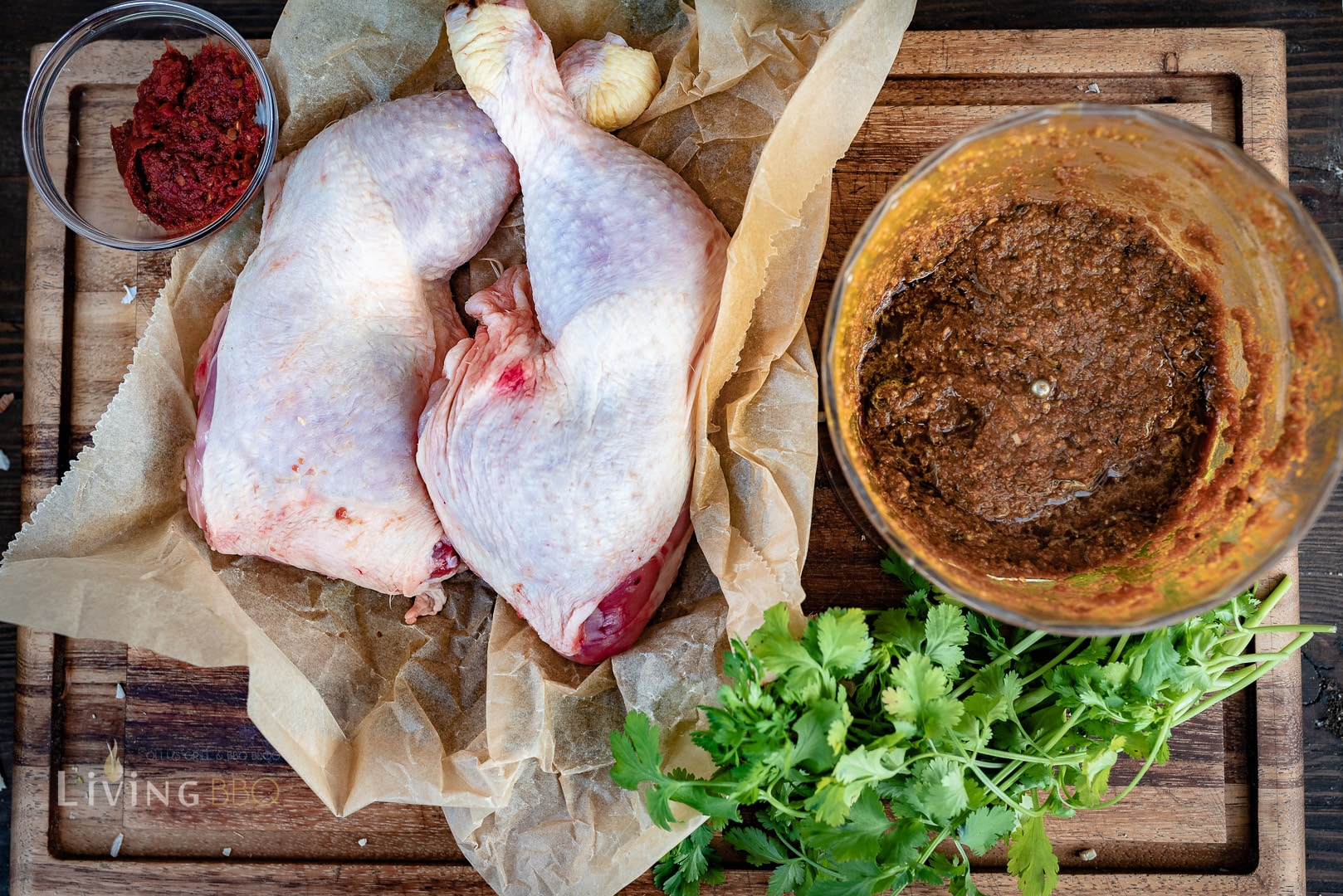 Marinade für leckere Hähnchenschenkel