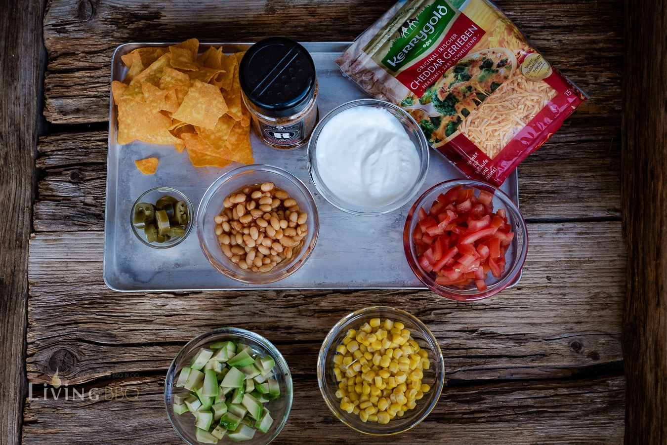 Zutaten für Nacho Flanksteak Platte Fully loaded
