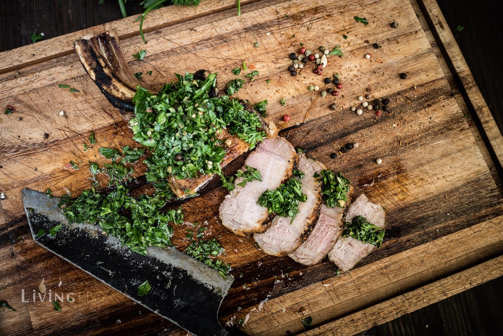 Schweinekotelett mit Gremolata
