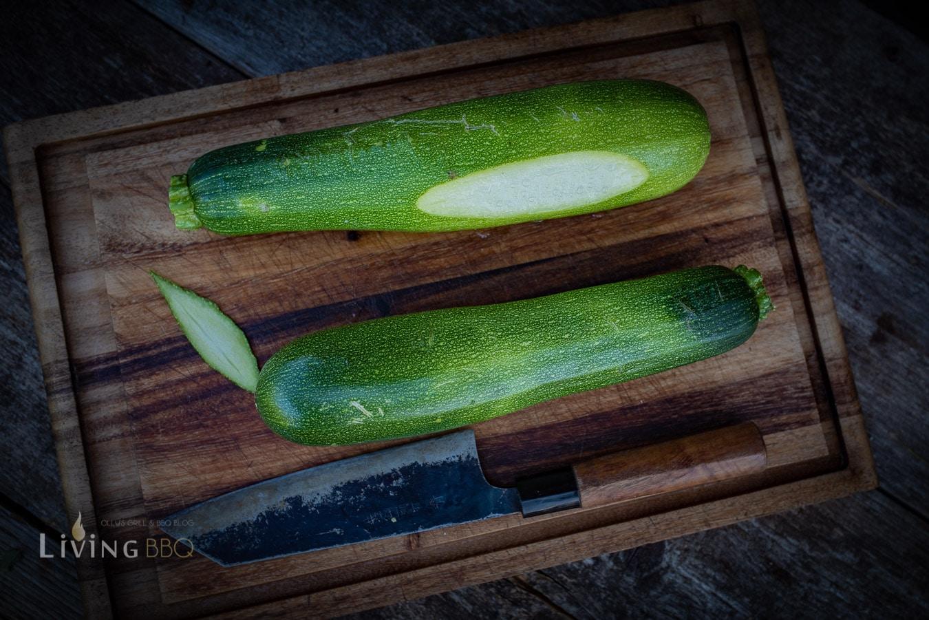 Zucchini anschneiden
