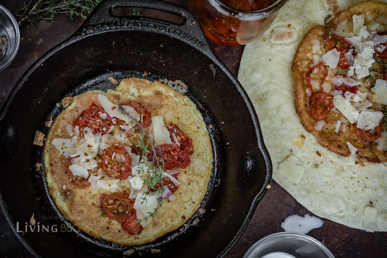 Omlett Burrito zum Frühstück