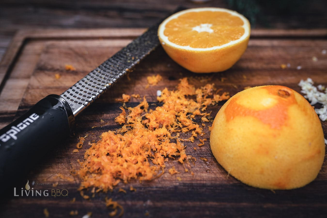 Orangenabrieb und Orangesaft