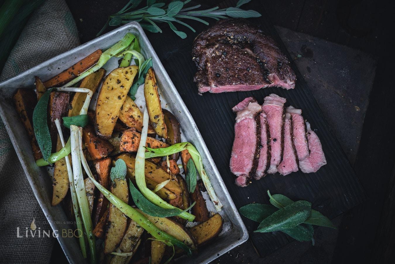 Salbei Kartoffeln mit Steak