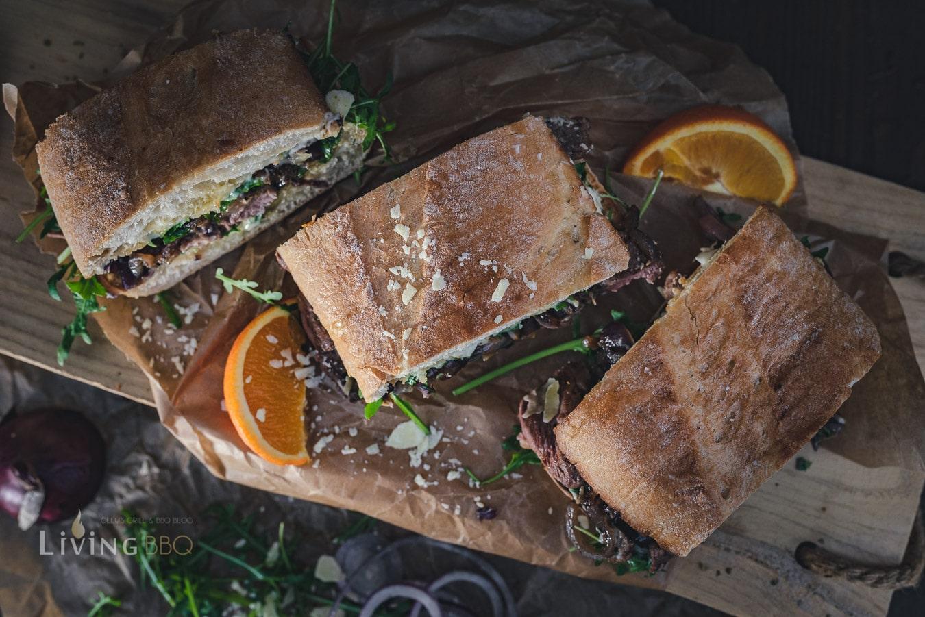 Entnebrust Sandwich servieren