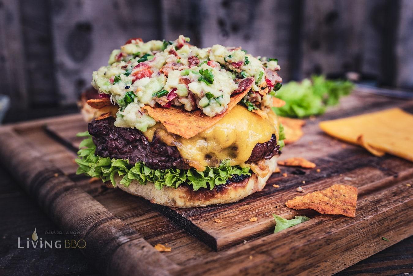 Zusammenbau des Guacamole Burger
