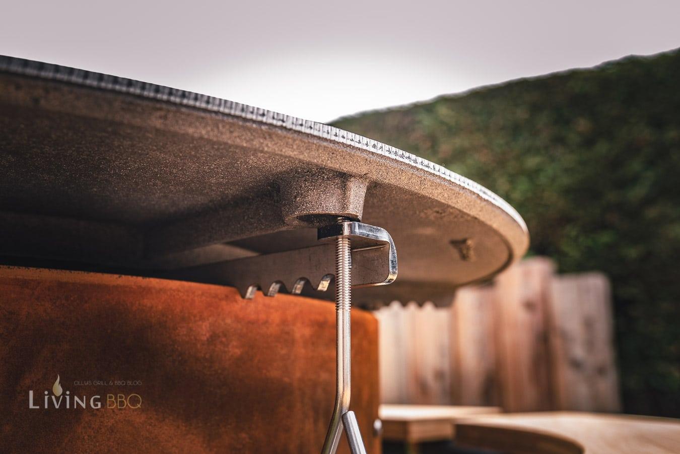 Höhenverstellung BBQ Disk Moesta-BBQ