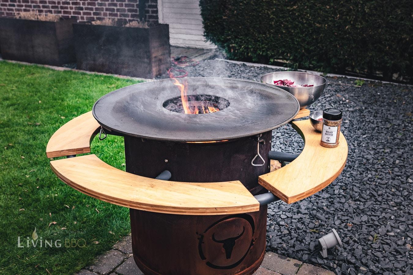 Feuerplatte aufheizen und einbrennen