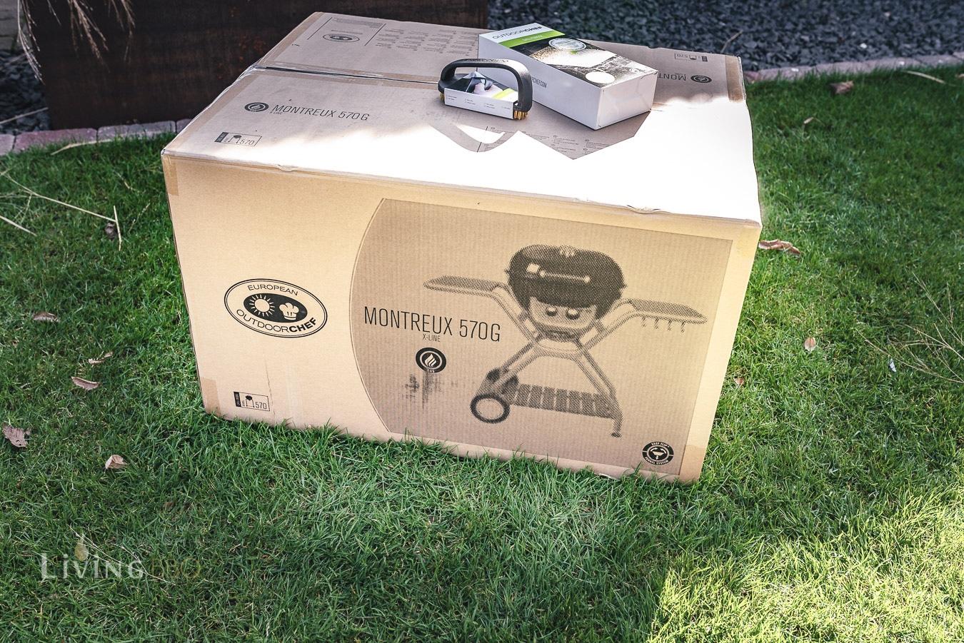 Der Karton des Outdoorchef Montreux 570 G Chef Edition