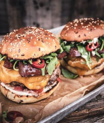 Chorizo Burger Kerrygold burger cheddar