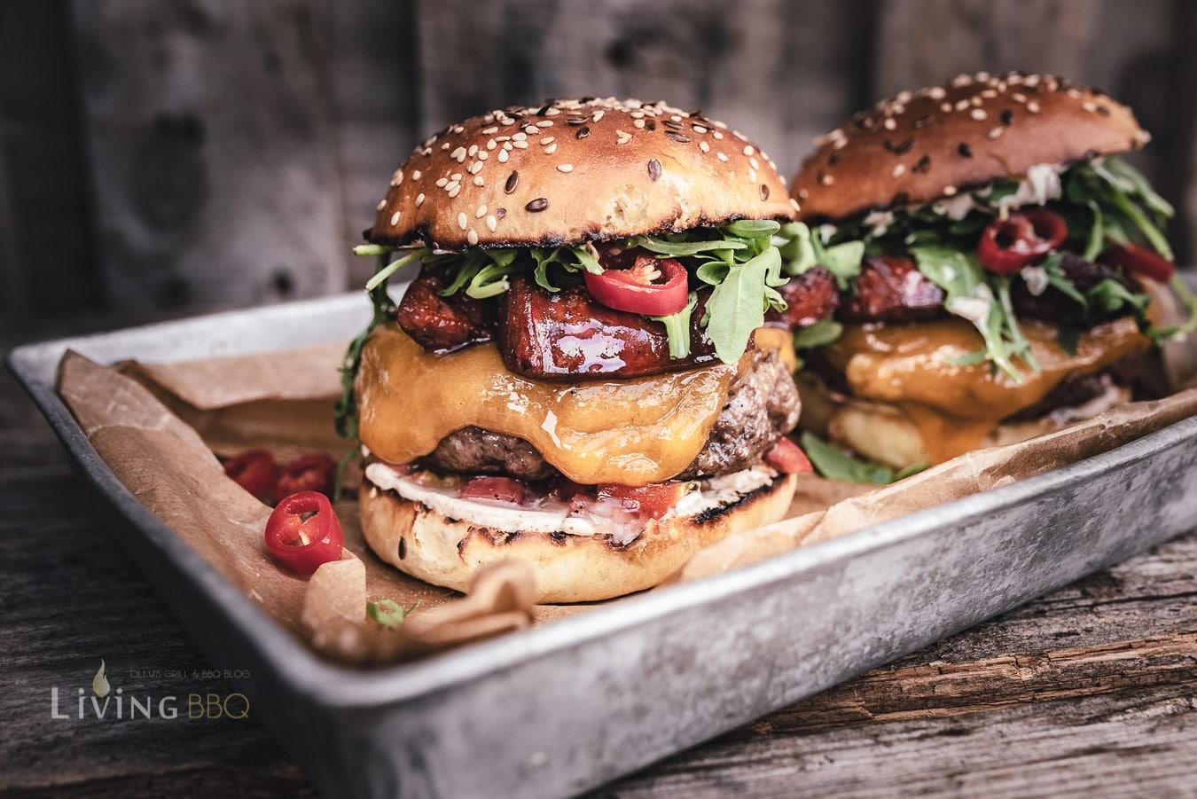 Chorizo Burger mit Burger Cheddar Käse