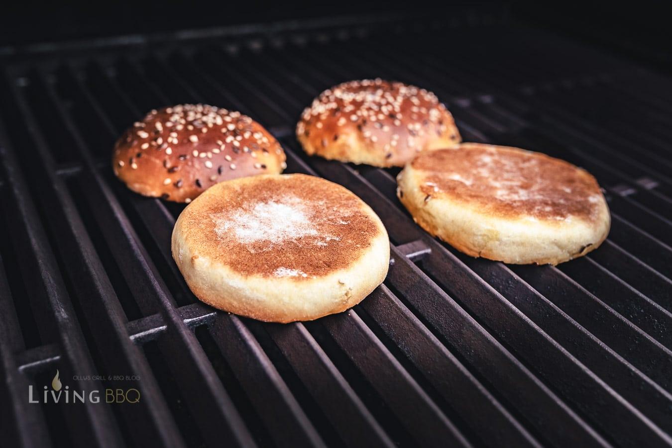 Burger Brötchen antoasten