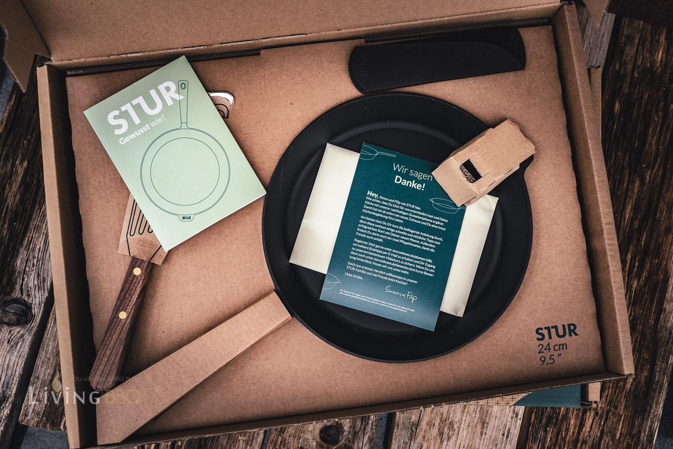 Gusseinsenpfanne von Stur Verpackung